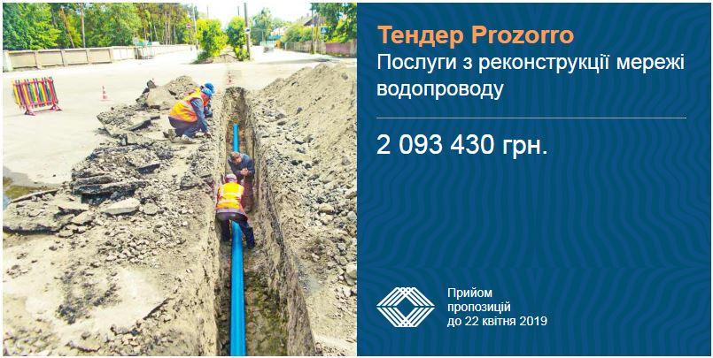 реконструкція водопроводу