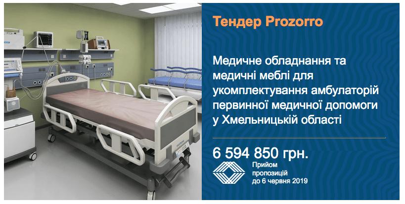 тендер медичне обладнання для амбулаторії