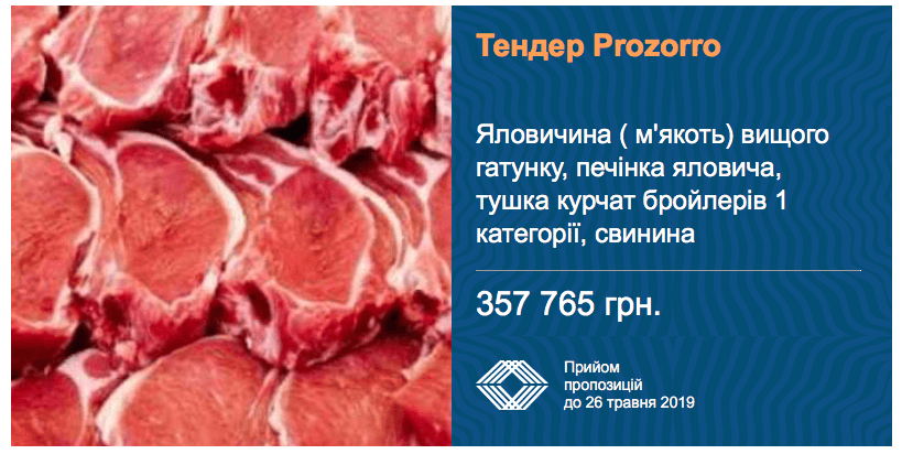 тендер мясо
