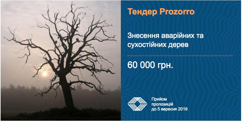 послуги знесення сухих дерев