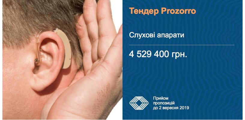 тендер слухові апарати