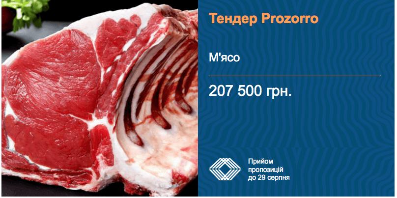 На закупівлю свинини Ржищівський індустріально-педагогічний технікум витратить 207 тис. грн